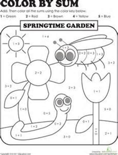 st grade coloring pages  grade addition color
