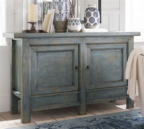 distressed media cabinet molucca media console distressed blue consoles sitting 3382