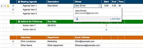 meeting agenda attendance  follow  template smartsheet