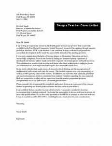 inspiring sample teacher cover letter for new teachers 37 With sample teaching cover letters for new teachers