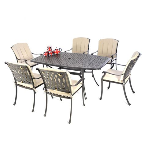 167x97 boat shaped table 6 venetian chairs black