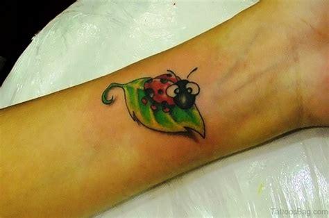 phenomenal ladybug tattoos  wrist