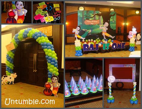 krishna theme birthday krishna jayanthi decoration