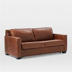henryr pull down leather sleeper sofa full tobacco With henry leather sectional sofa