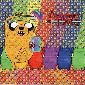 ADVENTURE TIME BLOTTER ART psychedelic perforated LSD acid ...
