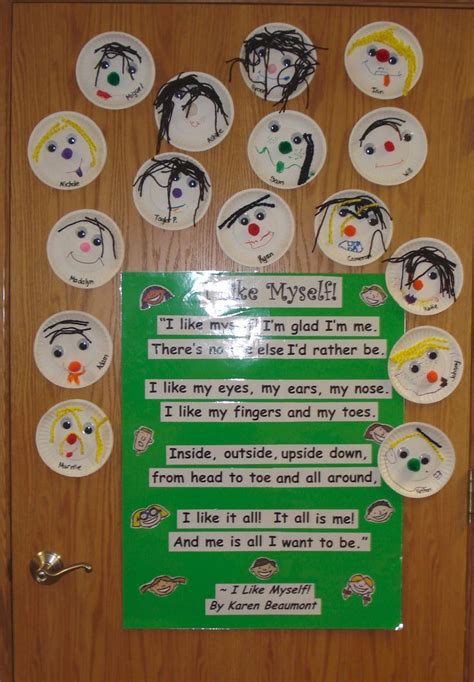 quot i like myself quot bulletin board bulletin boards classroom 586 | aa6303def3023e5c7afa1f8ee249f914 pre school activities preschool crafts