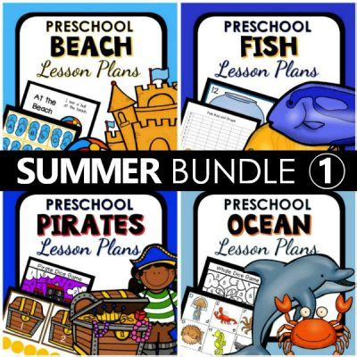 summer theme lesson plans for preschoolers summer theme lesson plan bundle 2 preschool 101 282