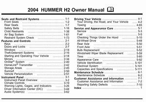 Hummer H2 2004 Owner U0026 39 S Manual Has Been Published On