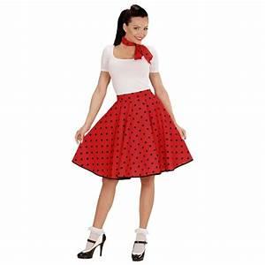 60 Jahre Style : 60er jahre petticoat rot rockabilly rock mit halstuch polkarock und schal rock n roll damenrock ~ Markanthonyermac.com Haus und Dekorationen