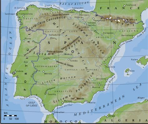 mountain ranges of spain
