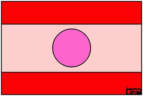 Lao Flag Coloring Page, Printable Lao Flag