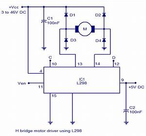 H Bridge Motor Controller Circuit Diagram