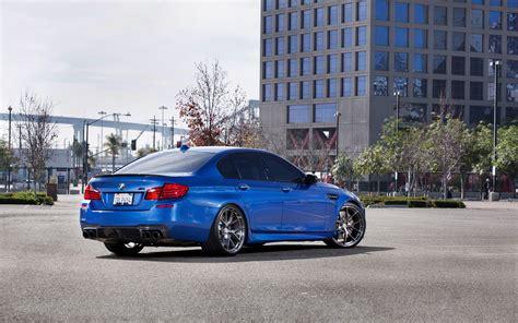 Bmw M5 Hd Picture by Wallpaper Bmw M5 F10 Blue Car Back View 2560x1600 Hd