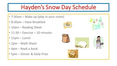 tips unexpected snow days