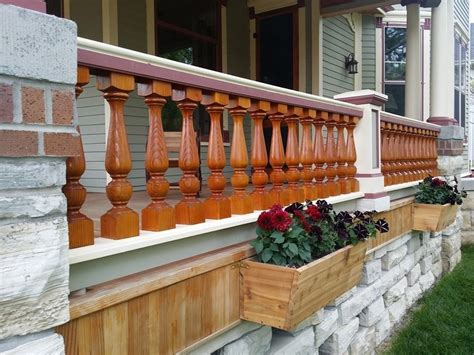 Wooden Porch Spindles by Traditional Wood Porch Spindles Turned Cedar Balusters