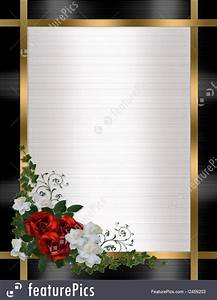 Invitation Design Software Free Celebration Wedding Invitation Border Red Roses Stock