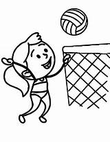 Coloring Volleyball Pages Printable sketch template