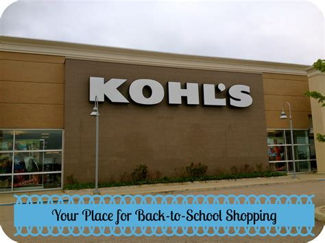 Maybe you would like to learn more about one of these? Kohl's is the Place for Back-to-School Shopping - Mama Luvs Books