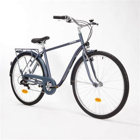 city bike herren city bike 28 quot elops 120 hf herren graublau b decathlon