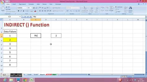 excel reference another sheet indirect how to use excel