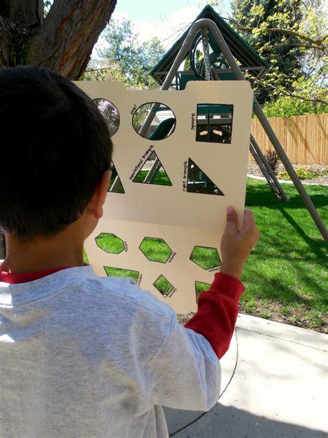 shape hunt  images preschool math games shape