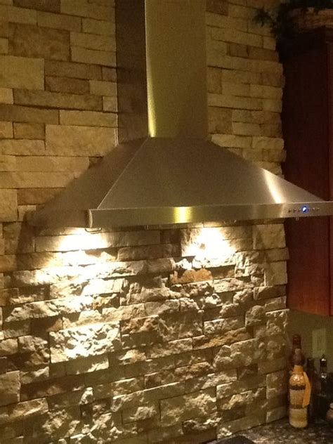 stacked stone walls vent hood  stacked stones  pinterest