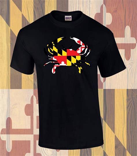 md flag crab front design  shirt