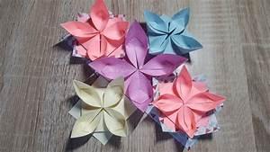 Origami Blumen Falten : einfache origami blume falten wasserlilie how to make an ~ Watch28wear.com Haus und Dekorationen
