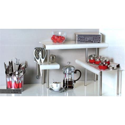 etagere cuisine design étagère d 39 angle cuisine blanc maison futée