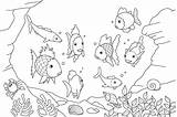 Coloring Pages Fish Simple Colouring Sheets Ocean Nature Animals Tiger sketch template