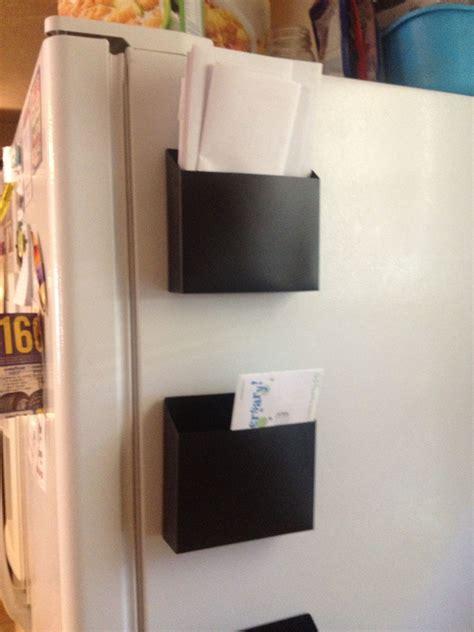 easy mail station magnetic locker organizers  dollar tree stuck   side   refr