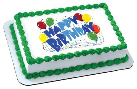 happy birthday balloons edible image decopac