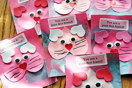 preschool crafts for s day cat card 465 | valentine kitty1