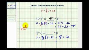 Ex: Convert Temperature from Celsius to Fahrenheit - YouTube