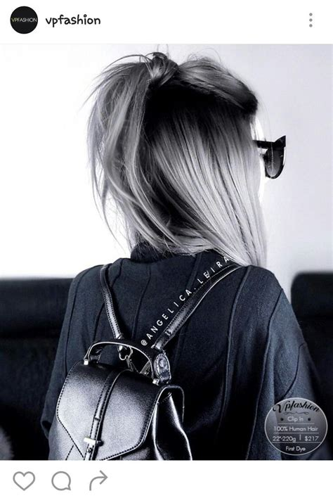 Black Ombre Grey Hair Hair Its On Your Head Pinterest