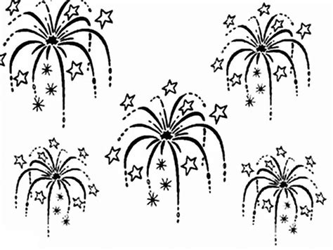 Fireworks Coloring Pages Printable