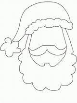 Coloring Santa Beard Template Booth Props Claus Printable Crafts Cut Templates Hat Patterns Preschool Footprint Clipart Gesicht Ornament Xmas Popular sketch template