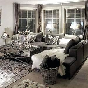 Black, White, Grey, Living, Room, Design