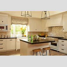 Cream Shaker Kitchen Cabinets  Transitional  Kitchen