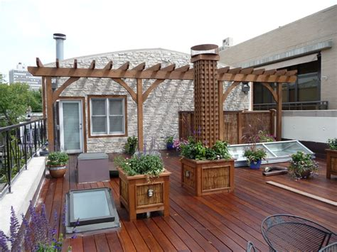 chicago roof decks landscaping traditional deck chicago by chicago roof deck garden
