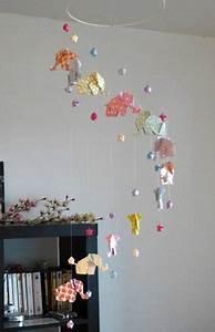 Mobile Bébé Original : mobile origami 12 l phants et 24 etoiles by mademoiselle origami ~ Teatrodelosmanantiales.com Idées de Décoration
