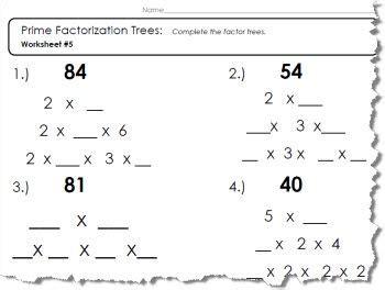 Factors And Prime Factorization Worksheets Siteraven
