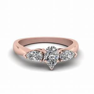 5 stone pear shaped diamond band in 14k rose gold for Wedding band for teardrop engagement ring