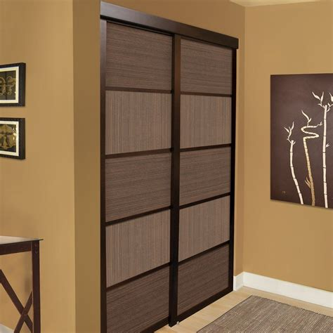 Sliding Closet Doors Canada by Shop Unbranded Espresso Cafe Sliding Closet Door At Lowe S