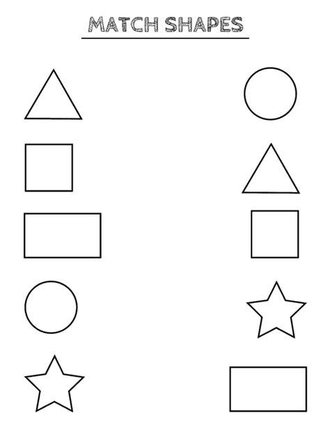 preschool worksheet gallery preschool matching shapes