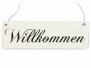 Türschild Herzlich Willkommen : vintage deko schild t rschild willkommen shabby nostalgie ~ Sanjose-hotels-ca.com Haus und Dekorationen