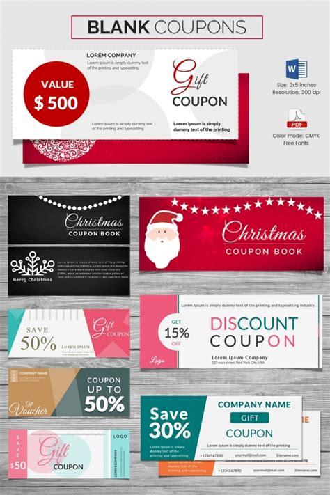 blank coupon template   psd word eps jpeg
