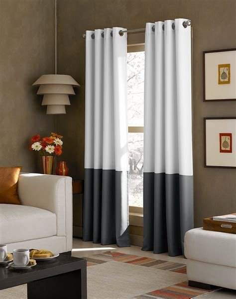 curtainworks kendall color block grommet curtain panel 95