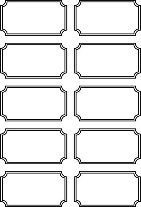 editable blank ticket template examples  event