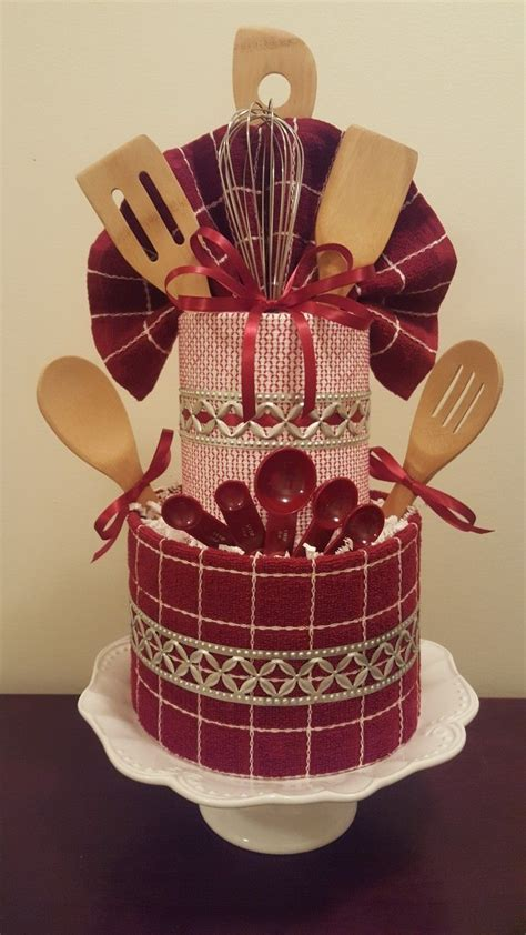 shower gifts kitchen themed towel cake bridal shower centerpiece gift